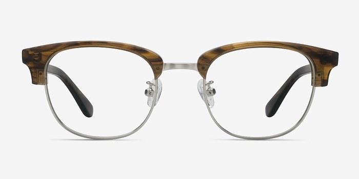 Brown Striped Bansai -  Acetate Eyeglasses