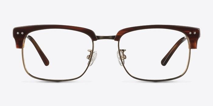 Striped Brown The Woods -  Designer Acetate Eyeglasses