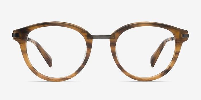 Brown Striped Ginger -  Designer Acetate Eyeglasses