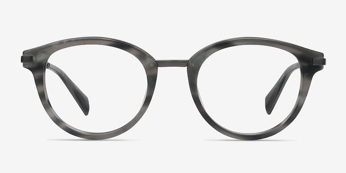 Gray Striped Ginger -  Designer Acetate Eyeglasses