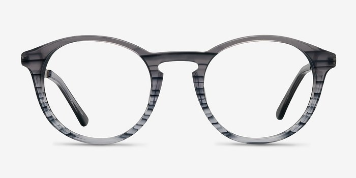 Blue Striped White Moon -  Acetate Eyeglasses