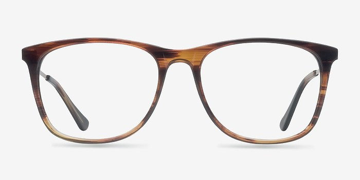 Brown Contrast -  Fashion Acetate Eyeglasses