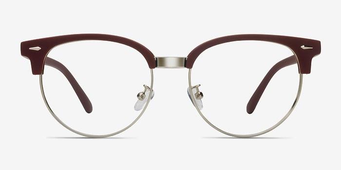 Matte Burgundy Narita -  Vintage Metal Eyeglasses