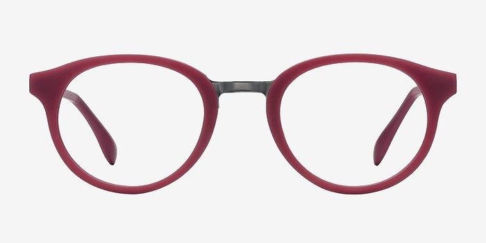 Matte Burgundy Aisu -  Metal Eyeglasses