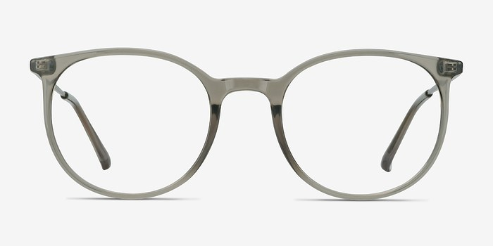 Clear Gray Marilou -  Metal Eyeglasses