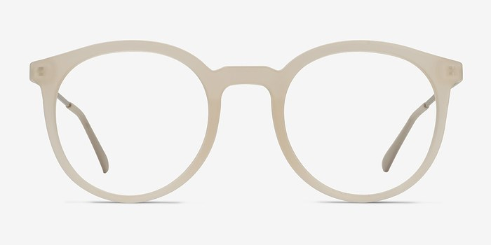 Matte Clear Grin -  Metal Eyeglasses