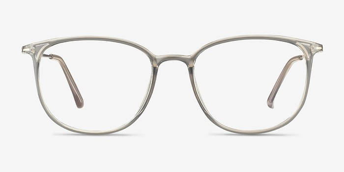 Clear Gray Strike -  Metal Eyeglasses