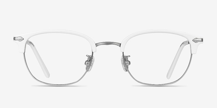 White Links -  Designer Metal Eyeglasses