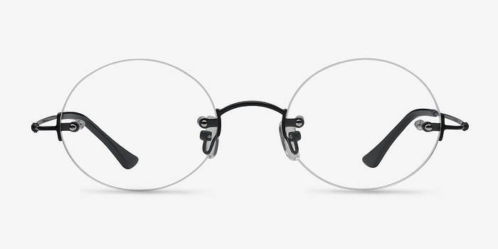 Black Silver Line -  Lightweight Metal Eyeglasses
