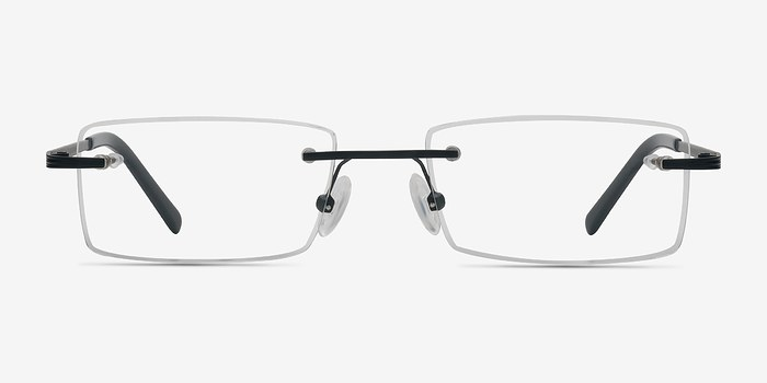 Black Evasive -  Lightweight Metal Eyeglasses