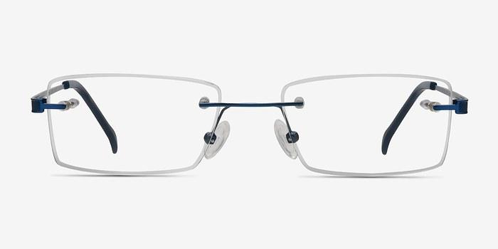 Blue Pyramids -  Lightweight Metal Eyeglasses