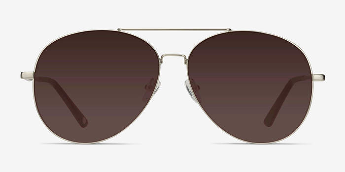 Matte Silver  Camp -  Vintage Metal Sunglasses