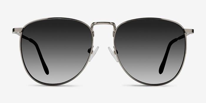 Silver Fume -  Metal Sunglasses