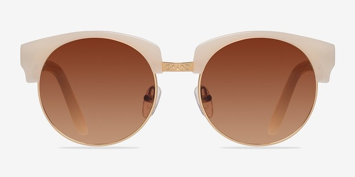 Ivory/Golden Simone -  Plastic Sunglasses