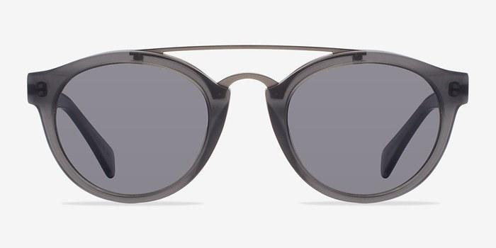 Matte Gray Enzo -  Acetate Sunglasses