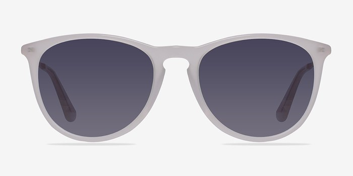 Clear/White Interlude -  Plastic Sunglasses