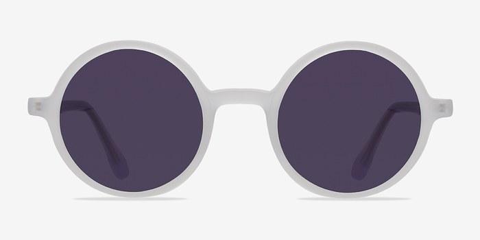 Matte Clear Alena -  Acetate Sunglasses