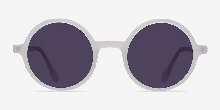 Matte Clear Alena -  Acetate Sunglasses