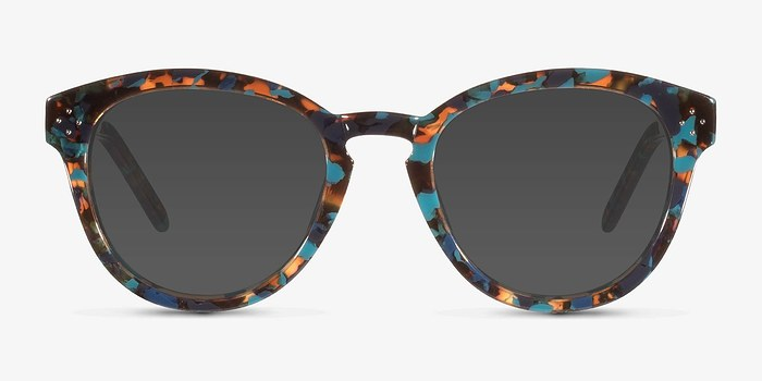 Blue Floral  Augustine -  Acetate Sunglasses