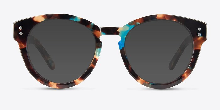 Brown Floral Rome -  Acetate Sunglasses