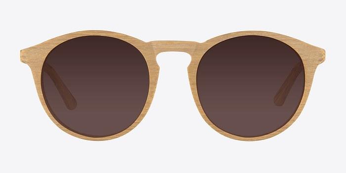Yellow Air -  Wood Texture Sunglasses