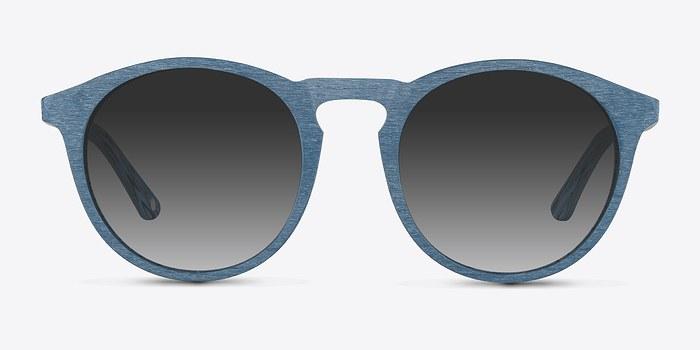 Blue Air -  Wood Texture Sunglasses