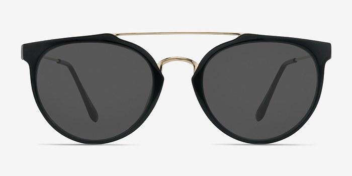 Golden Black  The Keys -  Plastic Sunglasses