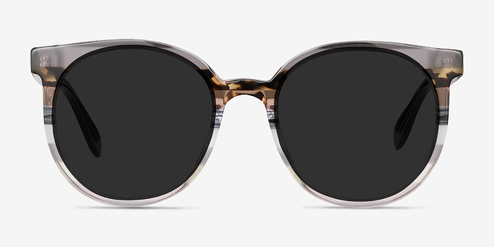 Gray Brown Valence -  Acetate Sunglasses