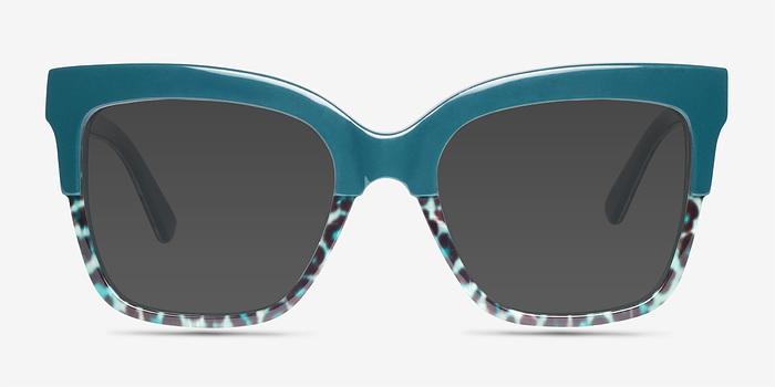 Green Leopard Intrigue -  Acetate Sunglasses