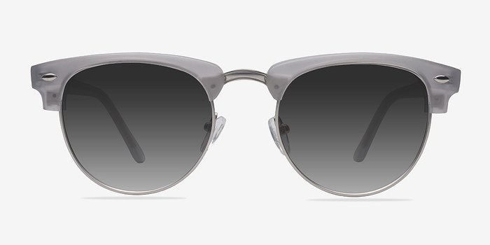 Clear Silver  The Hamptons -  Acetate Sunglasses