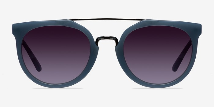 Blue/Silver Bali -  Acetate Sunglasses