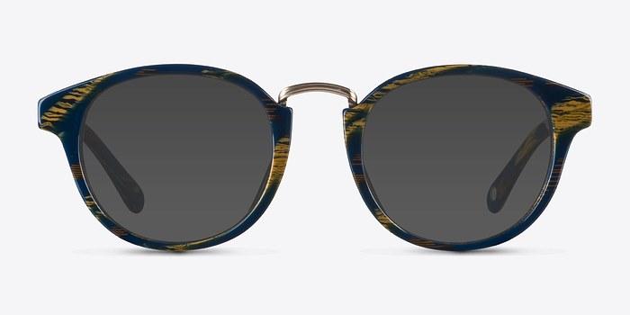 Blue Striped Major -  Acetate Sunglasses