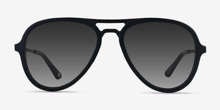 Matte Black Riot -  Acetate Sunglasses