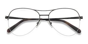 Black Dash -  Metal Eyeglasses
