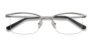 Light Gunmetal Vespid -  Metal Eyeglasses