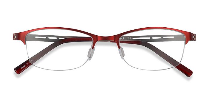 Red Pearl -  Colorful Metal Eyeglasses