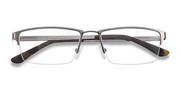 Gunmetal Bowler -  Metal Eyeglasses