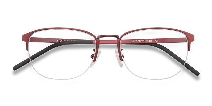 Burgundy Silox -  Metal Eyeglasses