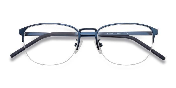 Navy Silox -  Colorful Metal Eyeglasses
