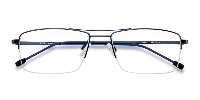 Navy Creel -  Metal Eyeglasses