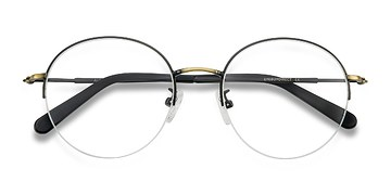 Black Bronze Albee -  Metal Eyeglasses