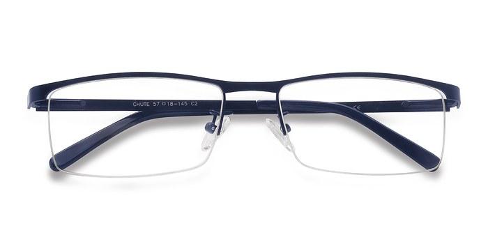 Navy Chute -  Metal Eyeglasses