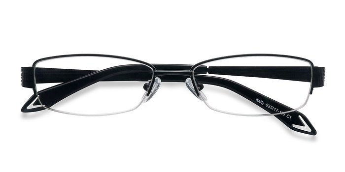 Matte Black Kelly -  Metal Eyeglasses