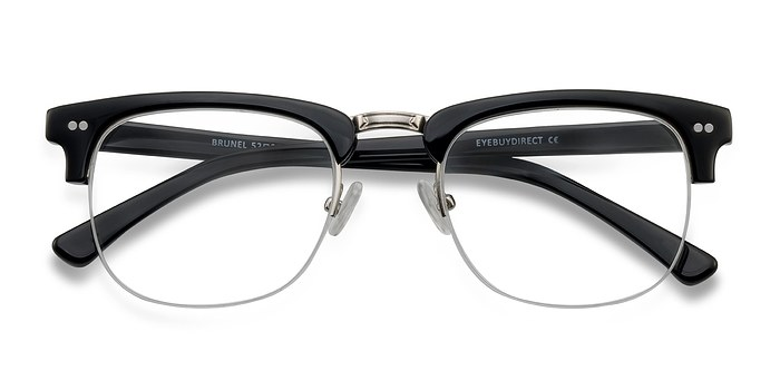 Black Brunel -  Acetate Eyeglasses