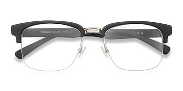 Matte Black Phonic -  Acetate Eyeglasses