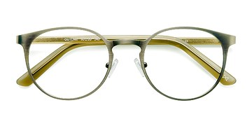 Matte Steel/Acetate Outline -  Designer Acetate Eyeglasses