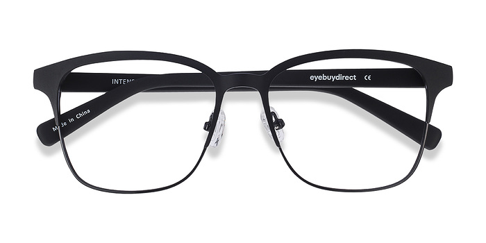 Matte Black Intense -  Fashion Metal Eyeglasses