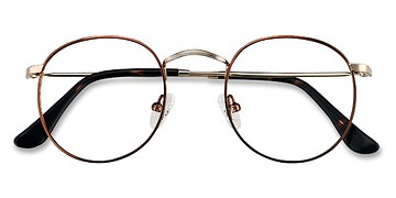 Brown Golden Daydream -  Metal Eyeglasses
