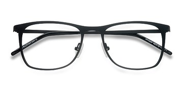 Matte Black Whisper -  Metal Eyeglasses