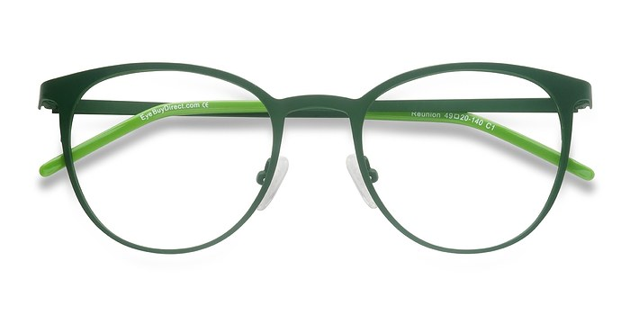 Matte Green Reunion -  Metal Eyeglasses